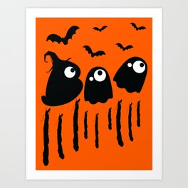 Boo Halloween Art Print