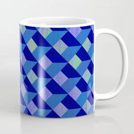 Geometric Marquetry With Variegated Marbled Colors Coffee Mug