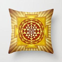 Sri Yantra IV.V Throw Pillow