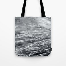Fire Grass in Black and White Tote Bag
