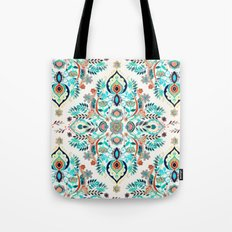 Modern Folk in Jewel Colors Tote Bag