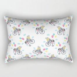 Cute bear and little girl pattern design. Rectangular Pillow