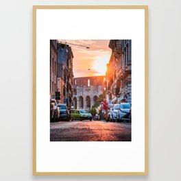 Rome Runner Framed Art Print