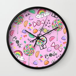 Cute Little Candies Wall Clock