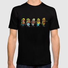 zombie minons Mens Fitted Tee SMALL Black
