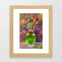 Remixed abstractions into digital still life Framed Art Print