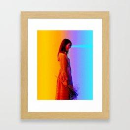 Beaming. Framed Art Print