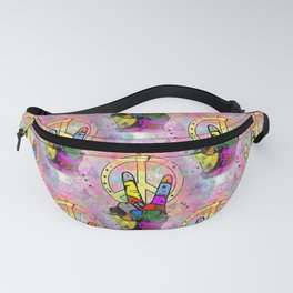 Hand of Peace by Nico Bielow Fanny Pack