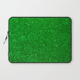 Emerald Green Shiny Metallic Glitter Laptop Sleeve