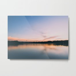 Dusk and reflections Metal Print