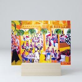 Artist painting the Mall.        by Kay Lipton Mini Art Print