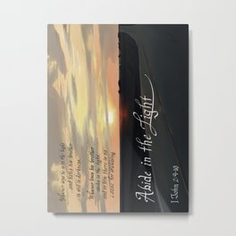 Abide In The Light Metal Print