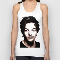 louis tomlinson Tank Tops featuring LOUIS TOMLINSON Vector Portrait by LsArtistry