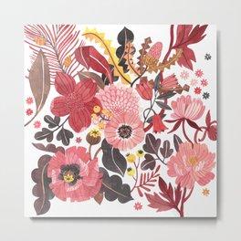 Warm Botanicals Metal Print