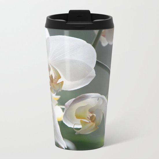 orchid Metal Travel Mug