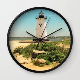 Edgartown Lighthouse, Martha's Vineyard, Massachusetts Wall Clock