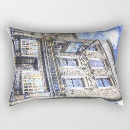 Prospect of  Whitby Pub London 1520 art Rectangular Pillow