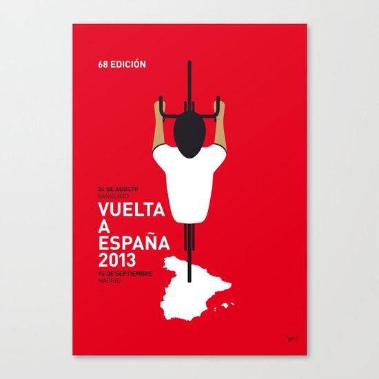 MY VUELTA A ESPANA MINIMAL POSTER Canvas Print