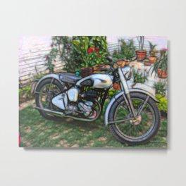 Vintage Classic British Motorbike Metal Print