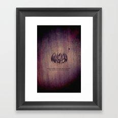 WASA3I.Rust. Framed Art Print