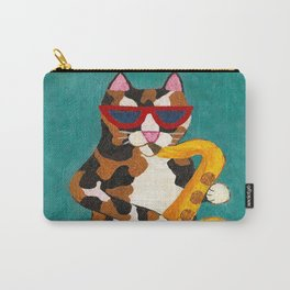 Calico Cat Saxophone Player Carry-All Pouch