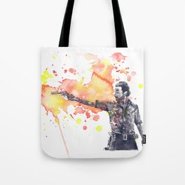 Portrait of Rick Grimes from The Walking Dead Tote Bag