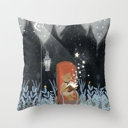 the little book of stars Throw Pillow