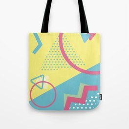 San Jose 1991 - Memphis Throwback Retro 1990s 80s Trendy Hipster Pattern Pastel Tote Bag