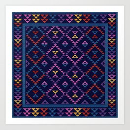 Bohemian Kilim Ethnic Pattern 1 Art Print