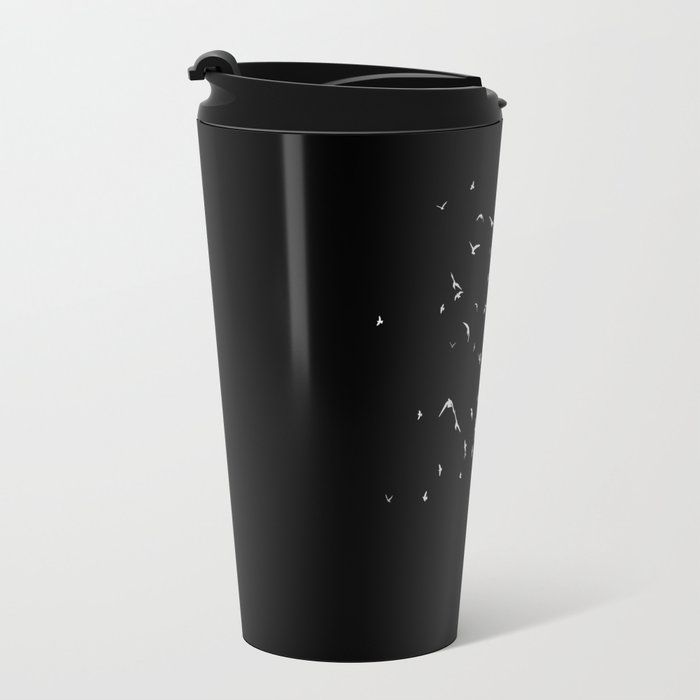 Birds of a Feather (Black) Travel Mug
