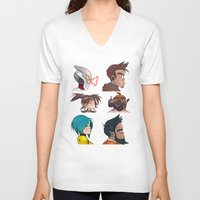 gorillaz V-neck T-shirts featuring Bandit Days by Philtomato