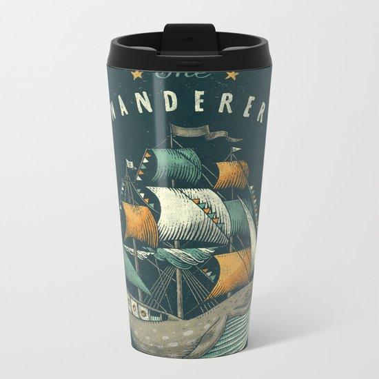 Whale   Petrol Grey Metal Travel Mug