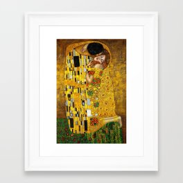 The Kiss Painting Gustav Klimt Framed Art Print