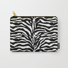 Wild Animal Print, Zebra in Black and White Carry-All Pouch