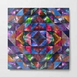 Space Quilt Metal Print