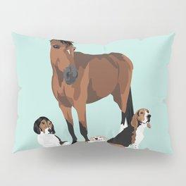 Horse and hounds Pillow Sham