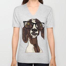 Hipster Goat Unisex V-Neck