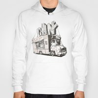 shopping Hoodies featuring Shopping Truck by Mitt Roshin