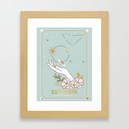 Capricorn Zodiac Series Framed Art Print
