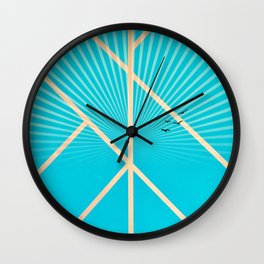 Leaf - Graphic sunset Wall Clock