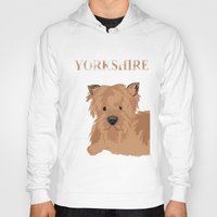 yorkie Hoodies featuring Yorkshire Terrier Dog Yorkie by ialbert