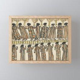 Figures in possum skin cloaks by William Barak, 1889 Framed Mini Art Print