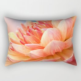 Dahlia Glow Macro Rectangular Pillow
