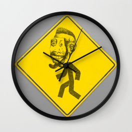 Mask man crossing Wall Clock