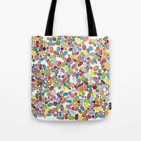 pills Tote Bags featuring Pills by Eleacuareling