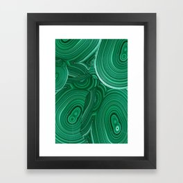 Green Malachite Nature Pattern Design Abstract Framed Art Print