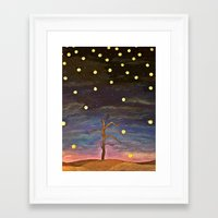 wtnv Framed Art Prints featuring Partially Stars by Xandretha