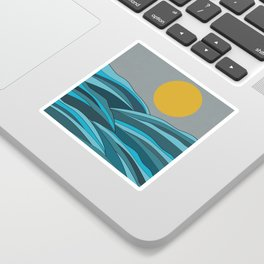 The ocean, waves and sun Sticker