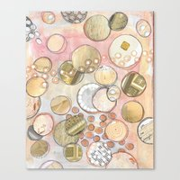 fancy Canvas Prints featuring fanCy by Kras Arts - Fly Me To The Moon