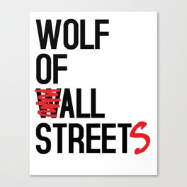 Wolf of All Streets Canvas Print